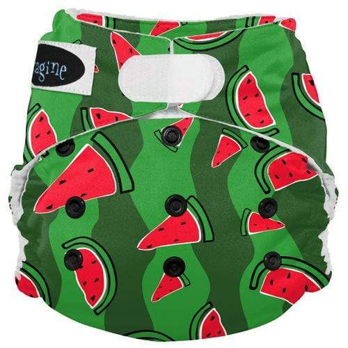 Imagine One Size Hook and Loop Stay Dry All in One Diaper - Watermelon Patch