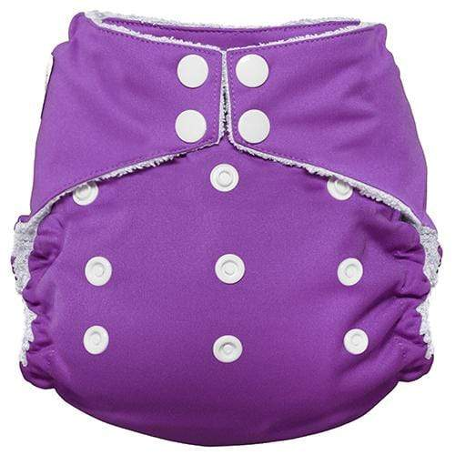 Imagine One Size Snap Bamboo All in One Diaper - Amethyst