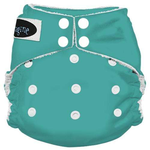 Imagine One Size Snap Bamboo All in One Diaper - Aquamarine