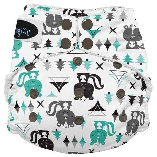 Imagine One Size Snap Bamboo All in One Diaper - Lil Stinker