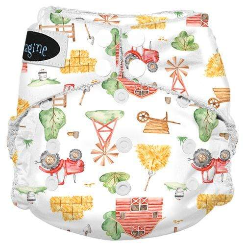 Imagine One Size Snap Bamboo All in One Diaper - Little Farmer