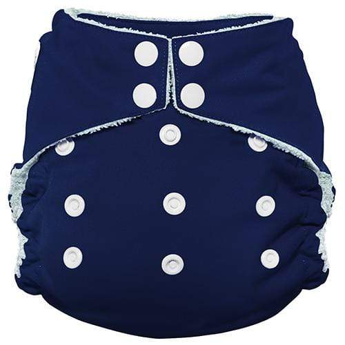Imagine One Size Snap Bamboo All in One Diaper - Navy Fleet