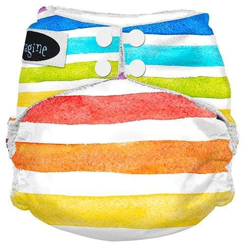 Imagine One Size Snap Bamboo All in One Diaper - Rainbow Connection