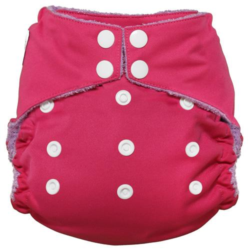 Imagine One Size Snap Bamboo All in One Diaper - Raspberry