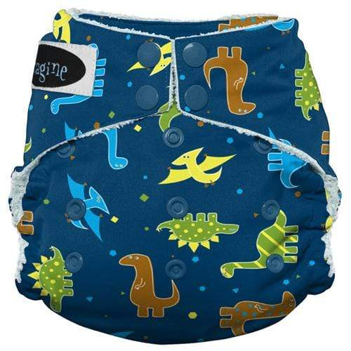 Imagine One Size Snap Bamboo All in One Diaper - Rawr