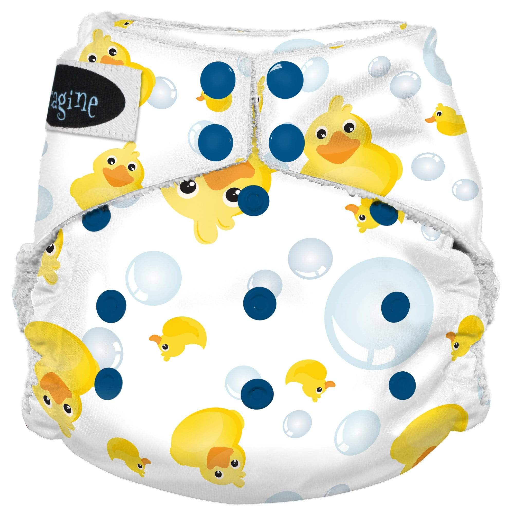 Imagine One Size Snap Bamboo All in One Diaper - Splish Splash