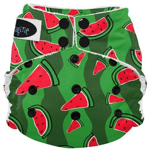 Imagine One Size Snap Bamboo All in One Diaper - Watermelon Patch