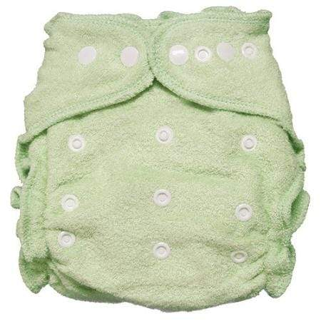 Imagine One Size Snap Bamboo Fitted Diaper - Emerald