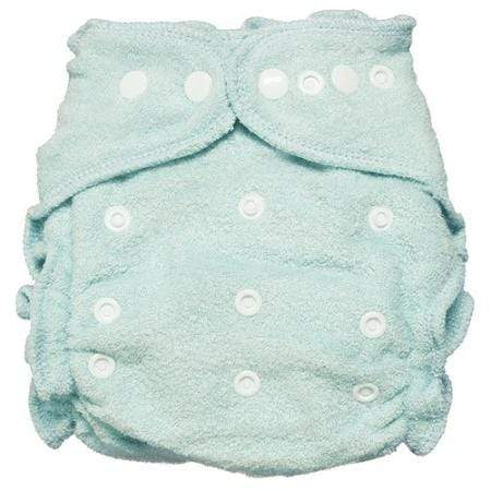 Imagine One Size Snap Bamboo Fitted Diaper - Indigo