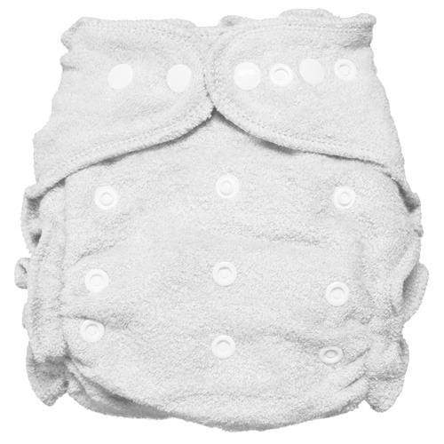 Imagine One Size Snap Bamboo Fitted Diaper - Snow