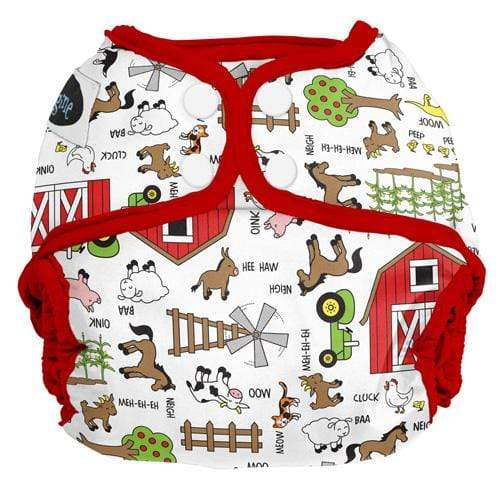 Imagine One Size Snap Diaper Cover - Barnyard Jam