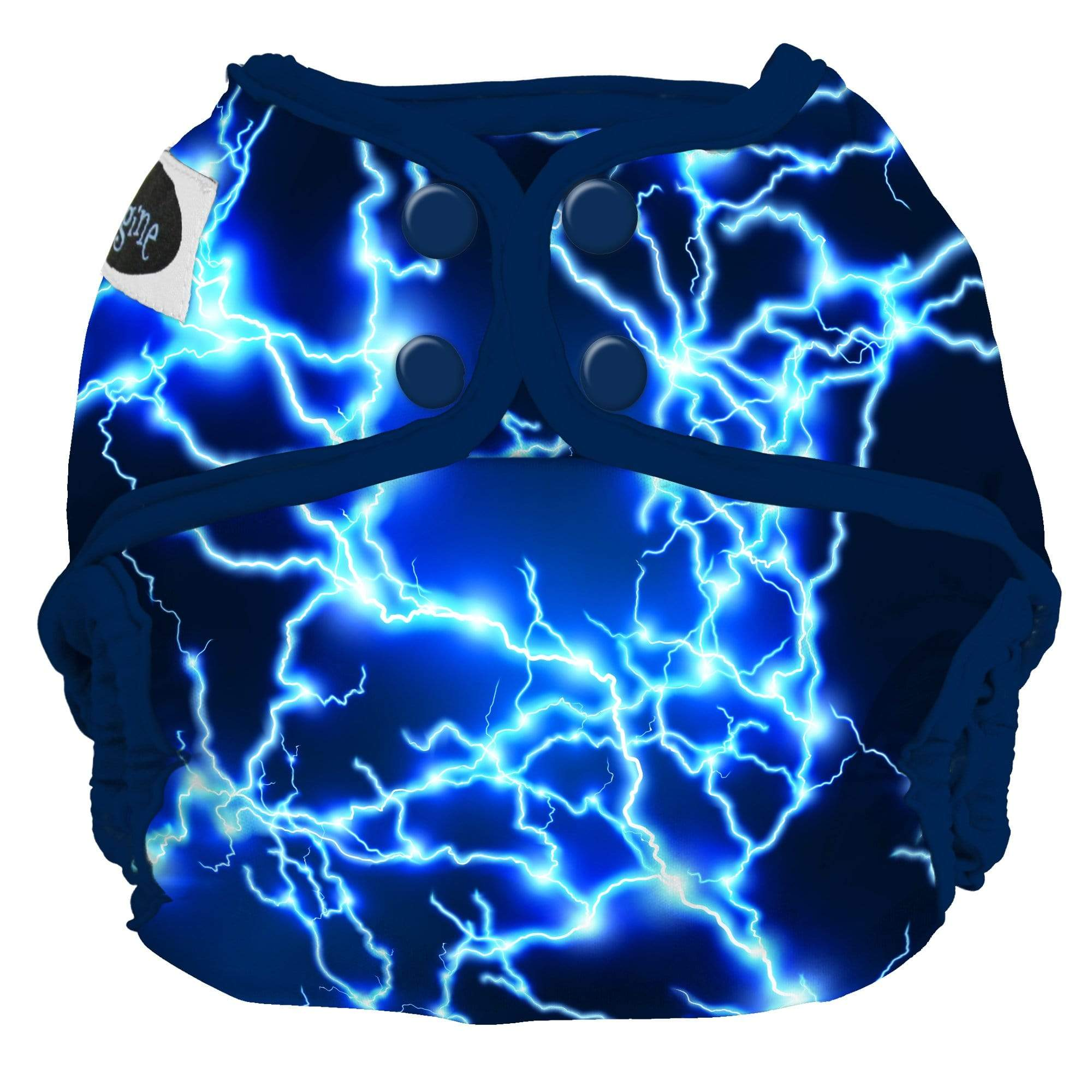 Imagine One Size Snap Diaper Cover - Lightning Strikes