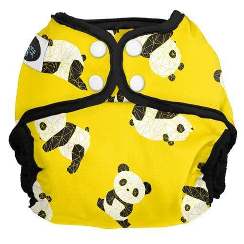 Imagine One Size Snap Diaper Cover - Panda Fold