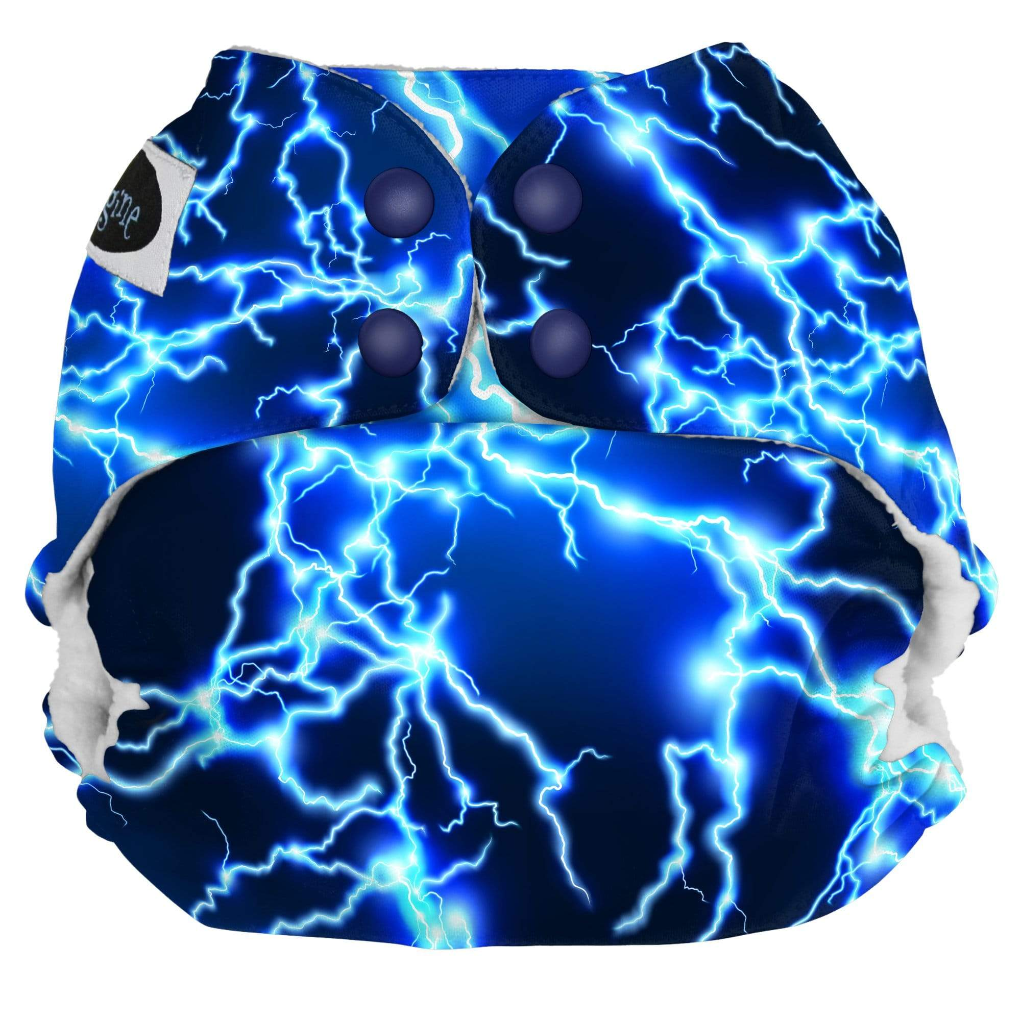 Imagine One Size Snap Pocket Diaper - Lightning Strikes
