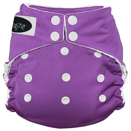 Imagine One Size Snap Stay Dry All in One Diaper - Amethyst