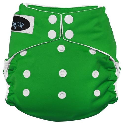 Imagine One Size Snap Stay Dry All in One Diaper - Emerald