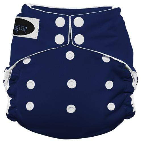 Imagine One Size Snap Stay Dry All in One Diaper - Navy Fleet
