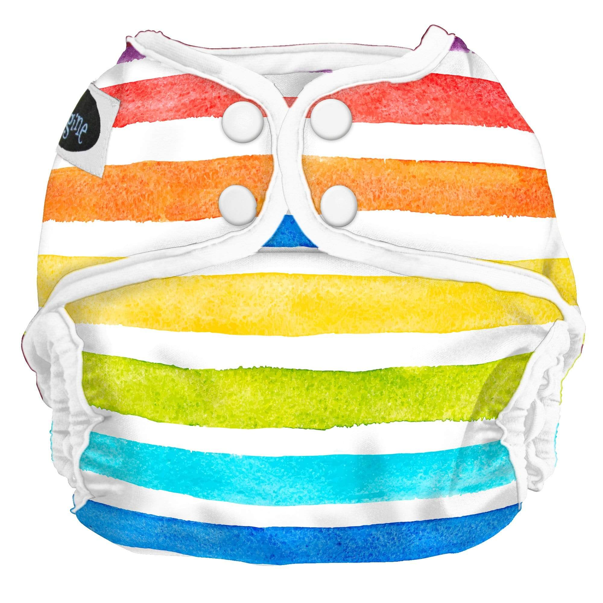 Imagine One Size Snap Stay Dry All in One Diaper - Rainbow Connection