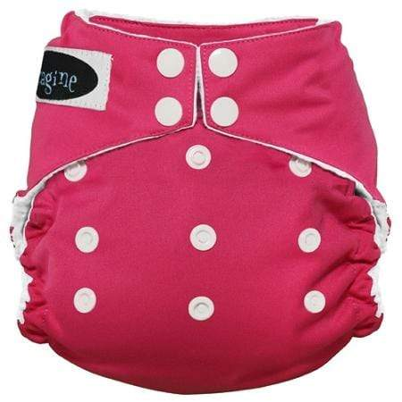 Imagine One Size Snap Stay Dry All in One Diaper - Raspberry