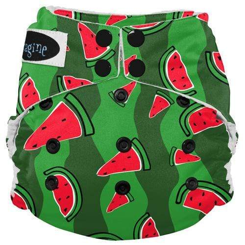 Imagine One Size Snap Stay Dry All in One Diaper - Watermelon Patch