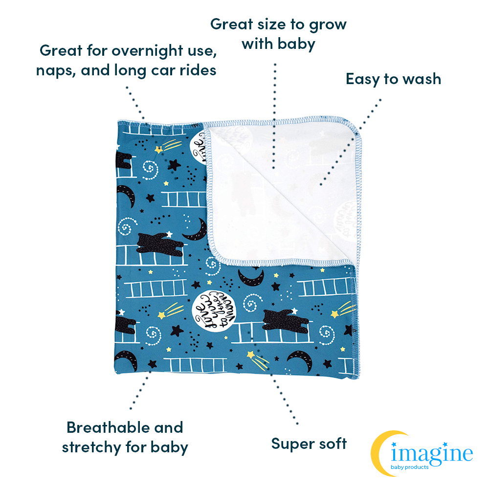 Imagine Stretchy Swaddle Blanket - To the Moon