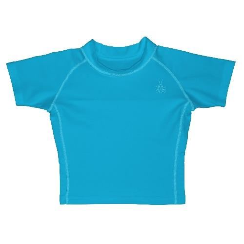 iPlay Rashguard Short Sleeve Shirt - Aqua