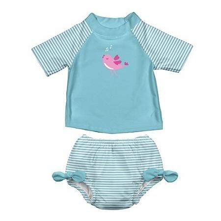 iPlay Rashguard Two Piece Set - Aqua Bird