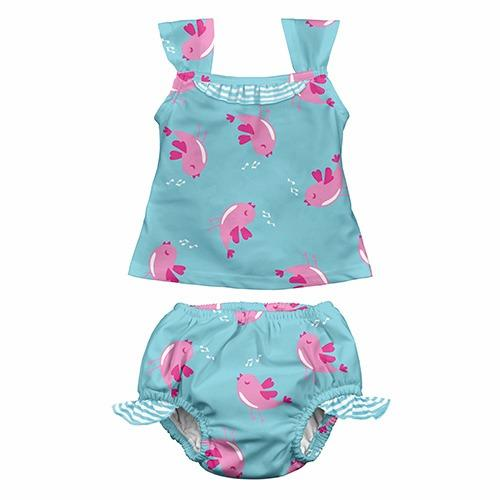 iPlay Tankini Two Piece - Aqua Bird