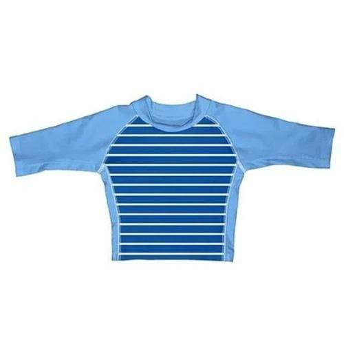 iPlay Three-Quarter Sleeve Rashguard Shirt - Royal Stripe