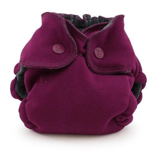 Kanga Care EcoPosh OBV Newborn Fitted Diaper - Boysenberry