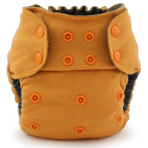 Kanga Care EcoPosh OBV One Size Fitted Pocket Diaper - Saffron