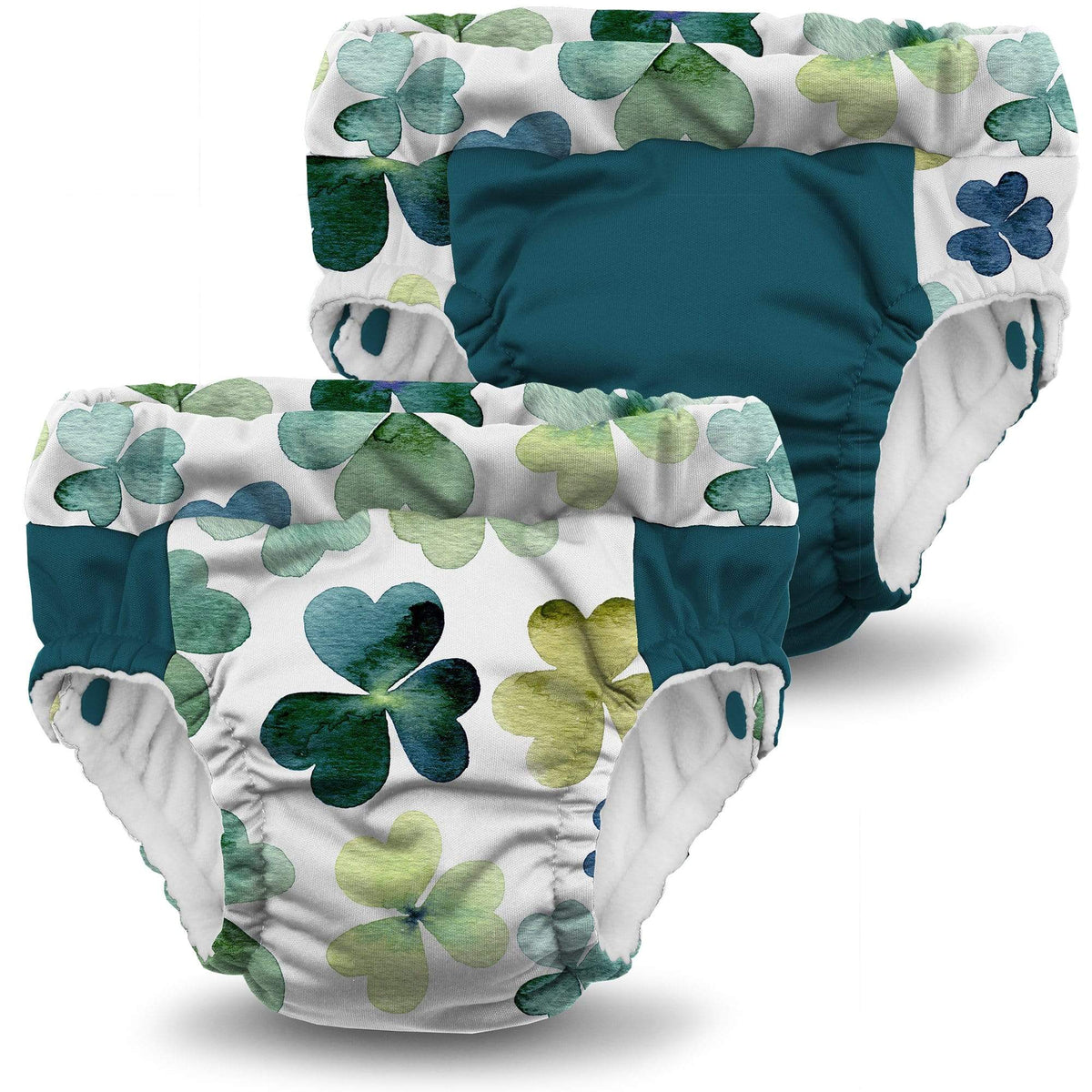 KangaCare Lil Learnerz Training Pant Two Pack - Clover and Caribbean