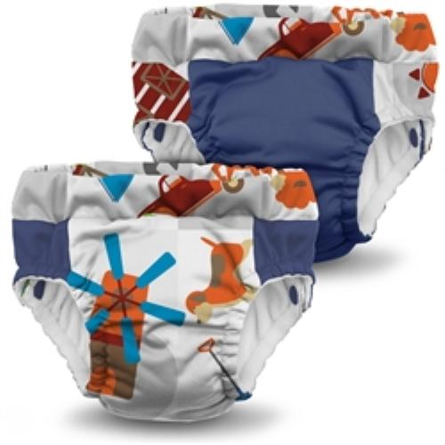 KangaCare Lil Learnerz Training Pant Two Pack - Harvest and Nautical