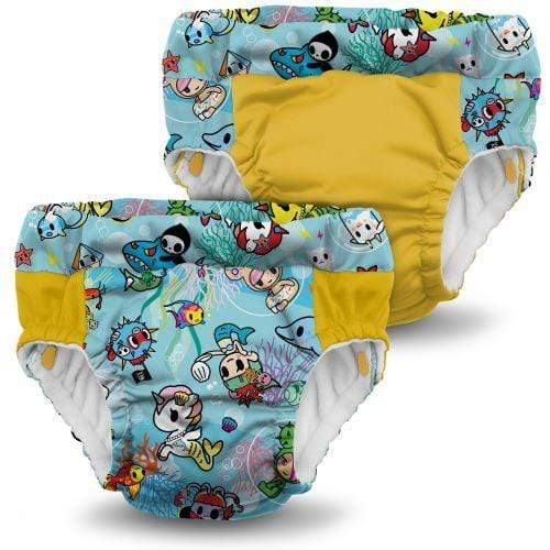 KangaCare Lil Learnerz Training Pant Two Pack - tokiSea and Dandelion