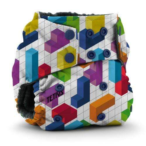 KangaCare Rumparooz One Size OBV Pocket Diaper - Tetris Block Party