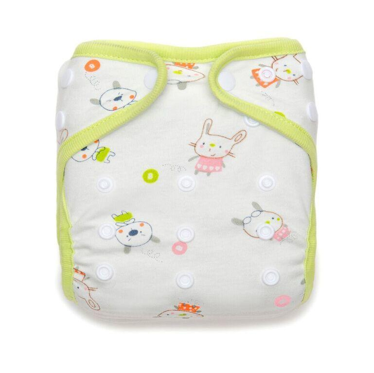 Kawaii Minky Bamboo Charcoal Pocket Diaper - Whiskers
