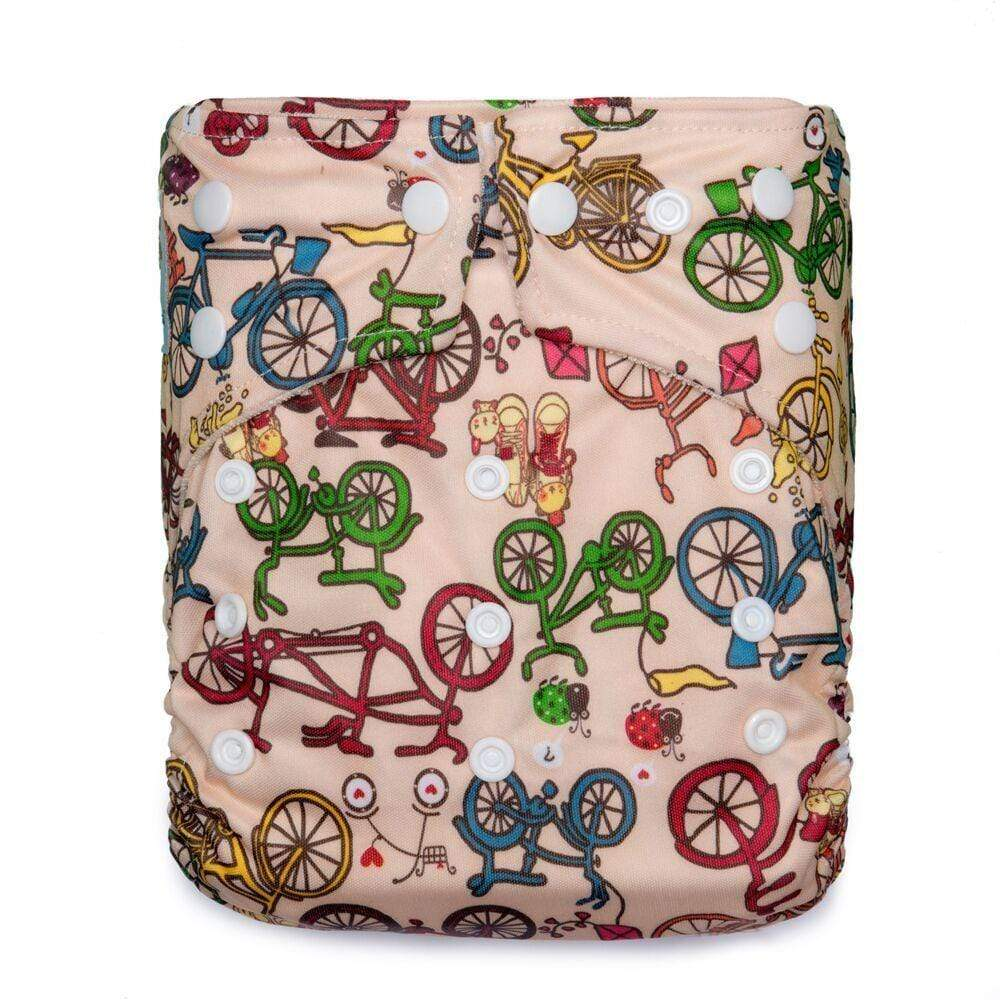 Kawaii One Size Premium Bamboo Pocket Diaper - Wheelie