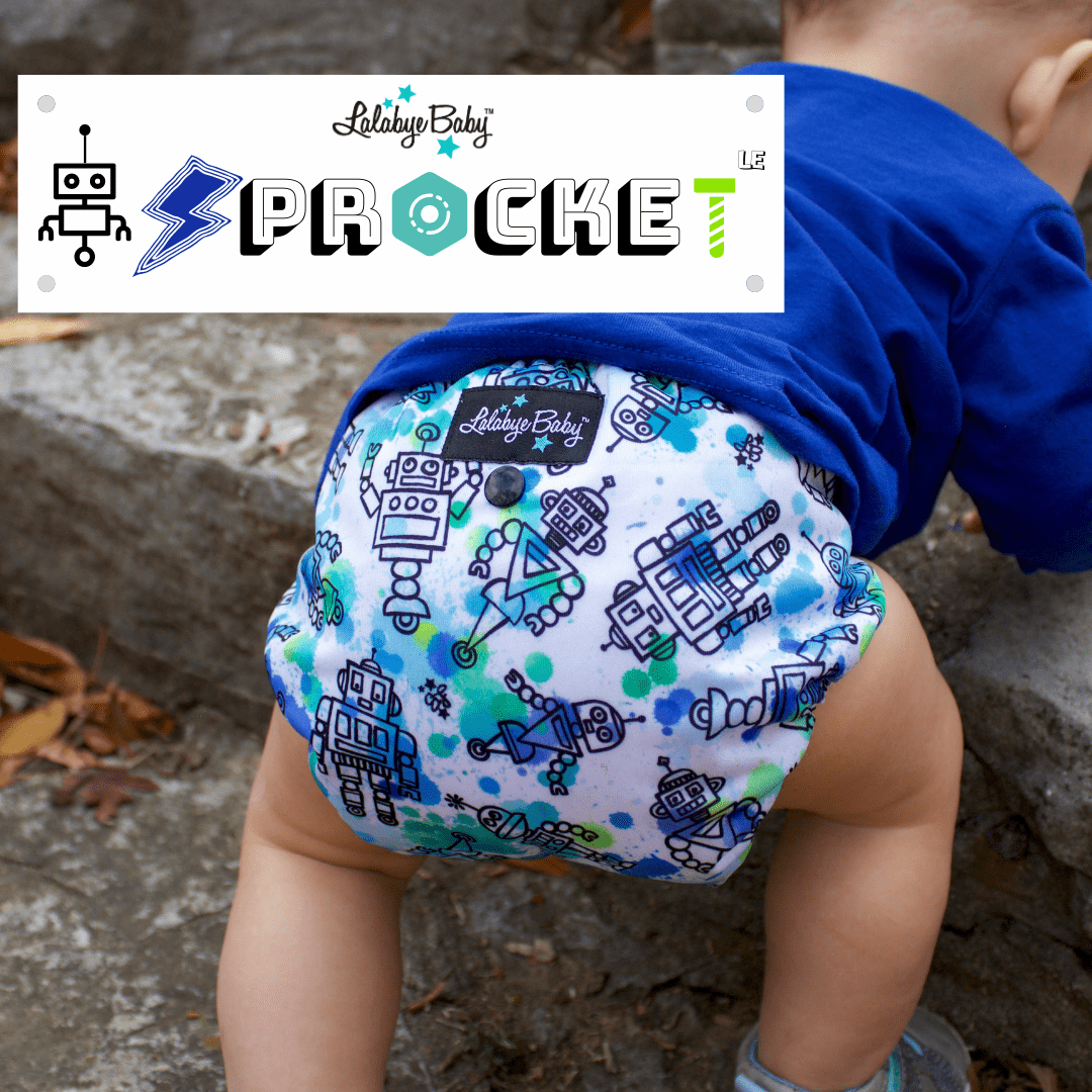 Lalabye Baby All In Two Cloth Pocket Diaper - Sprocket