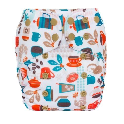 Lalabye Baby All In Two Cloth Pocket Diaper - You Mocha Me Happy