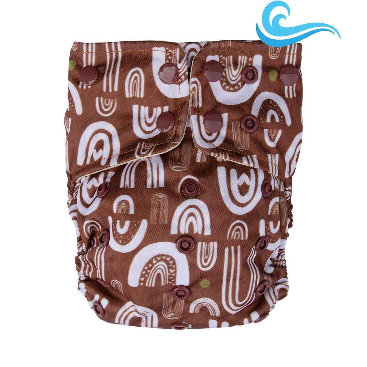 Lighthouse Kid's Company Snap Supreme Swim Diaper - No Rain No Rainbows