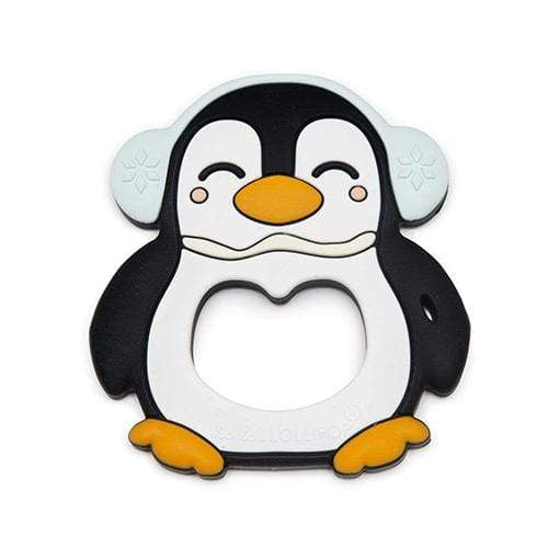 Loulou Lollipop Silicone Teether Single - Black Penguin