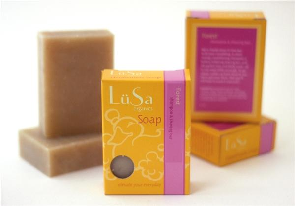 LuSa Boxed Forest Shampoo and Shaving Bar