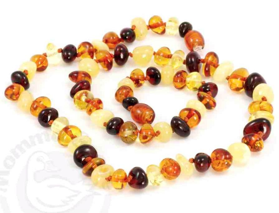 Momma Goose Baltic Amber Necklace - Adult - Multi