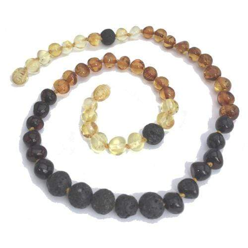 Momma Goose Baltic Amber Necklace - Adult - Rainbow Lava