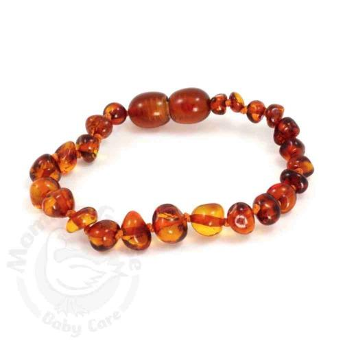 Momma Goose Baltic Amber Teething Bracelets - Cognac