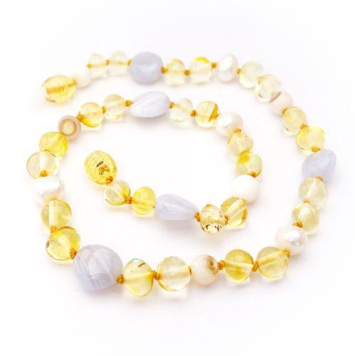 Momma Goose Baltic Amber Teething Necklace - Princess