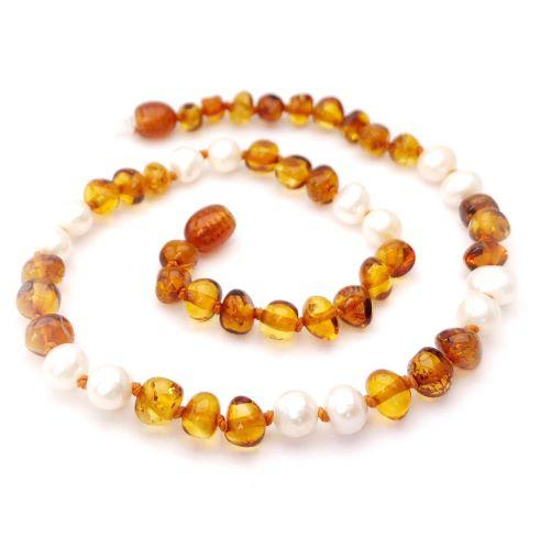 Momma Goose Baltic Amber Teething Necklace - Queen