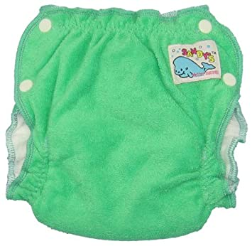 Mother ease Sandy's Cotton Terry Fitted Diaper - Green