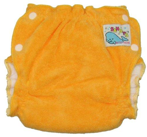 Mother ease Sandy's Cotton Terry Newborn Fitted Diaper - Orange