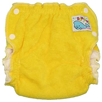 Mother ease Sandy's Cotton Terry Newborn Fitted Diaper - Yellow